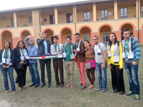 Quelques participants du meeting venus d'Egypte, du Maroc, de Palestine... Crédit photo : Pascaline