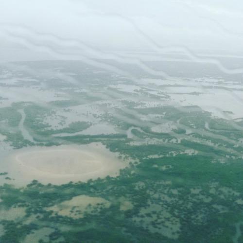 La Casamance vue d'avion, quel confort! Crédit photo : Pascaline