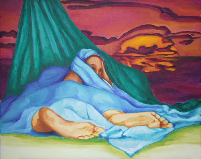 Une peinture de Khadija